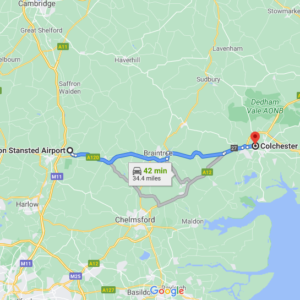 Stansted to  Colchester
