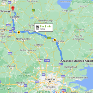Stansted to Loughborough