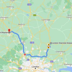 Stansted to  Milton Keynes
