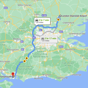Stansted to   Portsmouth