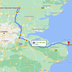 Stansted to  Ramsgate