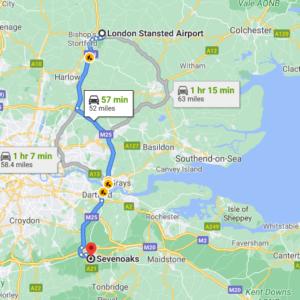 Stansted to Sevenoaks